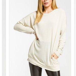 LAST4️⃣🆕Off White Pocket Tunic Pullover